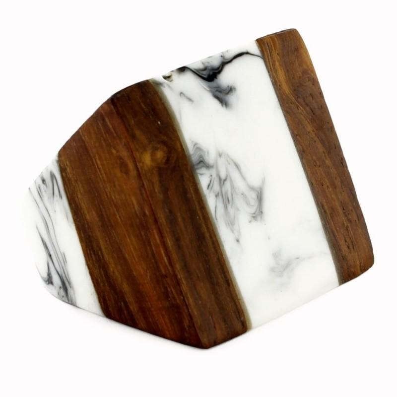Anillo madera efecto Marmolado