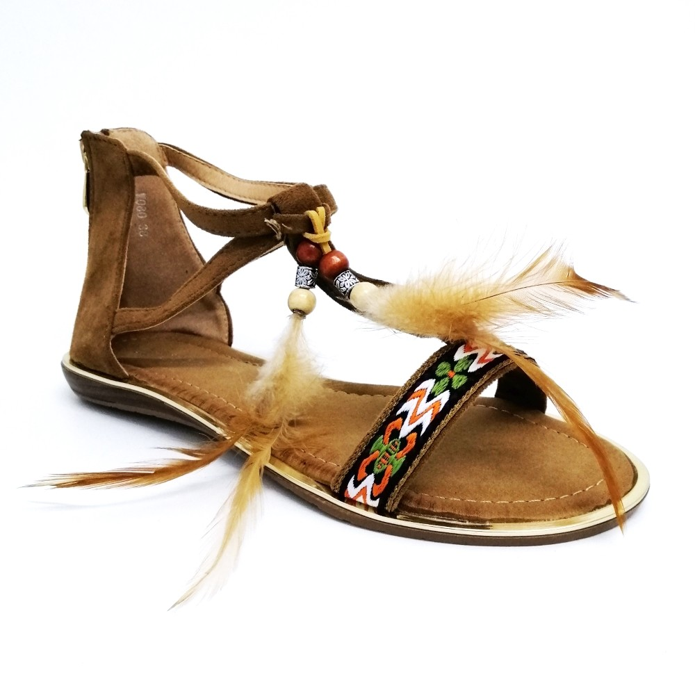 Sandalia BOHO plumas