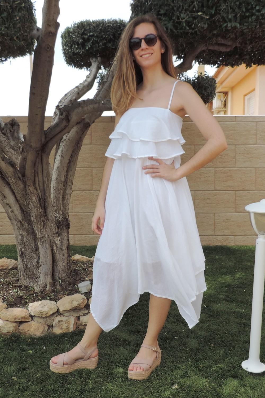 Vestido blanco de tirantes...