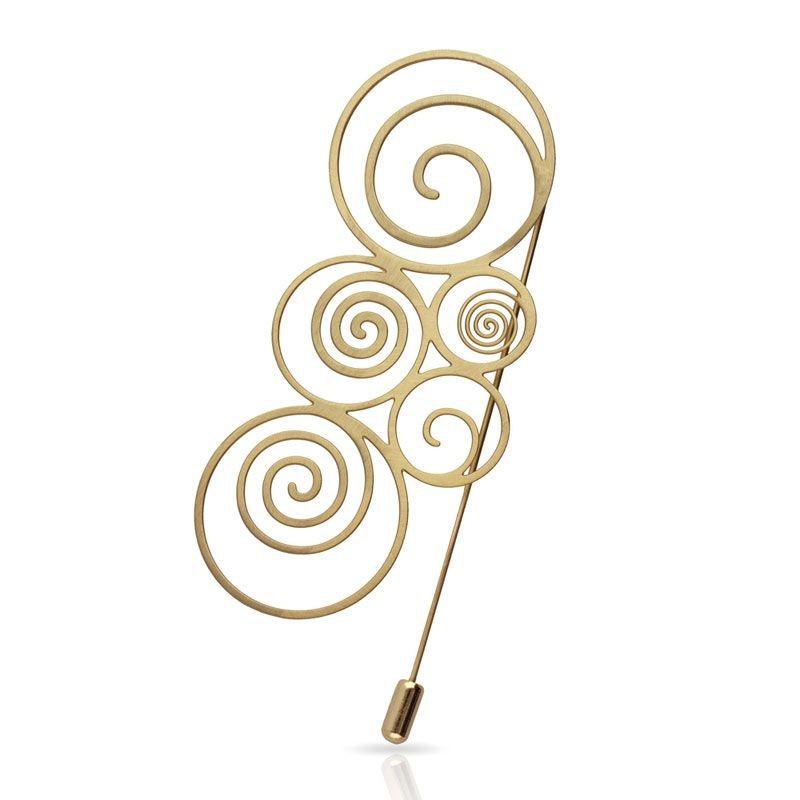 Agujón Espiral Oro