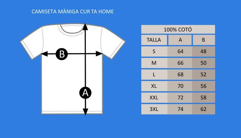 Guía de Tallas Camiseta MC cuello redondo